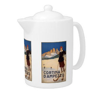 Vintage Travel Italian Alps Italy teapot