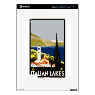 Vintage Travel Italian Lakes Decal For iPad 3