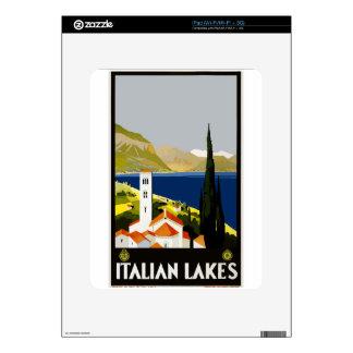 Vintage Travel Italian Lakes iPad Skin