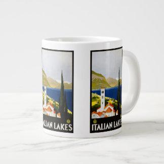 Vintage Travel Italian Lakes Italy mugs Jumbo Mug