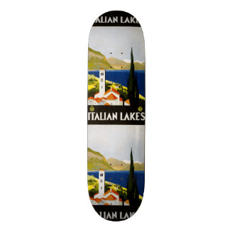 Vintage Travel Italian Lakes Italy skateboards