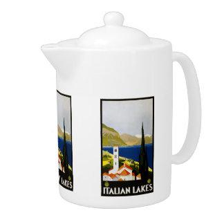 Vintage Travel Italian Lakes Italy teapot