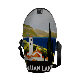 Vintage Travel Italian Lakes messenger bags