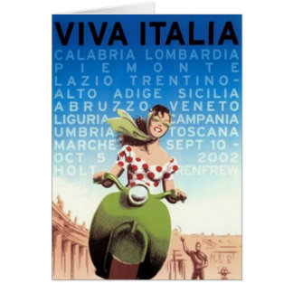 Vintage travel Italy - Card