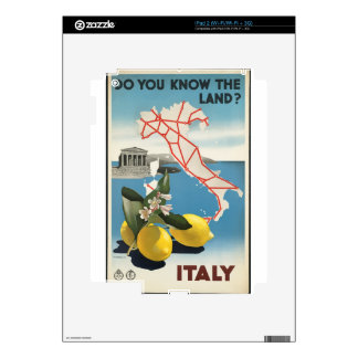 Vintage Travel Italy Decals For iPad 2