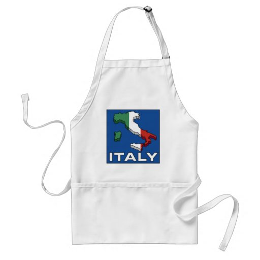 Vintage Travel Italy Logo Adult Apron