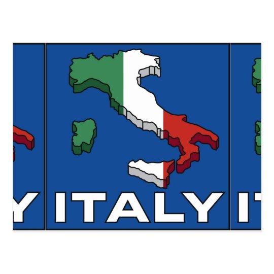 Vintage Travel Italy Logo Postcard