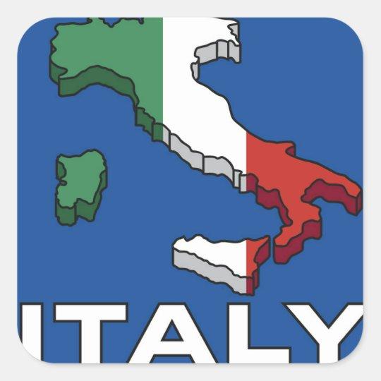 Vintage Travel Italy Logo Square Sticker