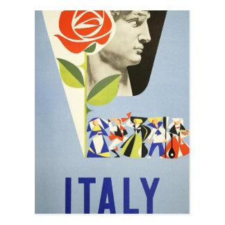 Vintage Travel - Italy Postcard