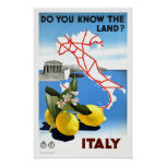Vintage Travel Italy Poster