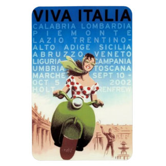 Vintage travel Italy - Rectangular Photo Magnet