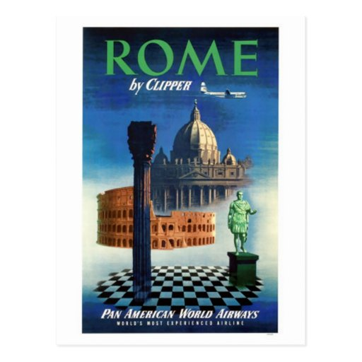 Vintage travel Italy, Rome - Post Card