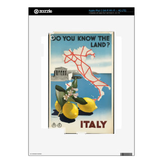 Vintage Travel Italy Skin For iPad 3