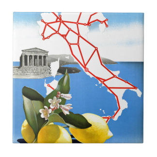 Vintage Travel Italy Small Square Tile