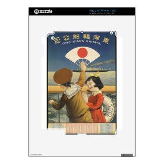 Vintage Travel Japan Skins For iPad 2