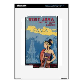Vintage Travel Java Indonesia iPad 3 Decals