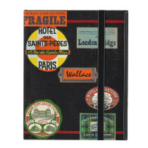 Vintage Travel Journal iPad Case