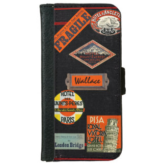 Vintage Travel Journal Wallet Phone Case For iPhone 6/6s