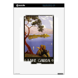 Vintage Travel Lake Garda Italy 1924 Decals For The iPad 2