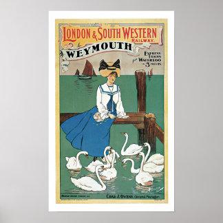Vintage Travel,London & South Western Railway Poster