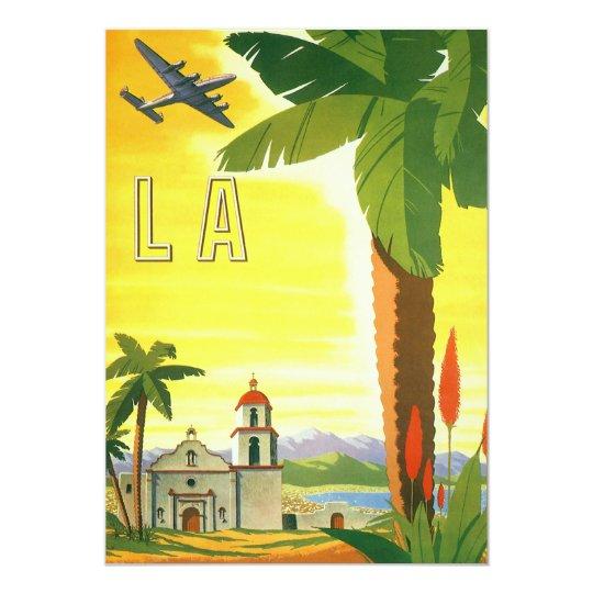 Vintage Travel, Los Angeles, California Invitation