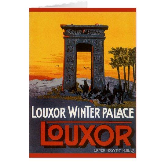 Vintage Travel, Louxor Winter Palace, Egypt Africa Card