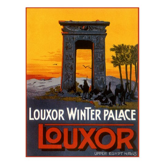 Vintage Travel, Louxor Winter Palace, Egypt Africa Postcard