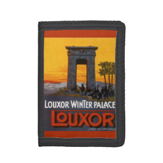 Vintage Travel, Louxor Winter Palace, Egypt Africa Trifold Wallet
