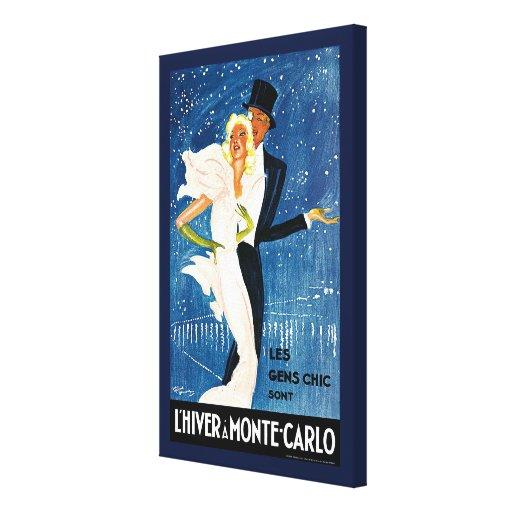 Vintage Travel, Love Romance Romantic Monte Carlo Canvas Print