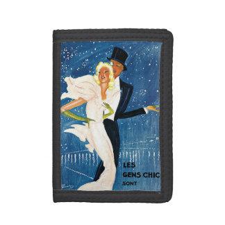 Vintage Travel, Love Romance Romantic Monte Carlo Trifold Wallet
