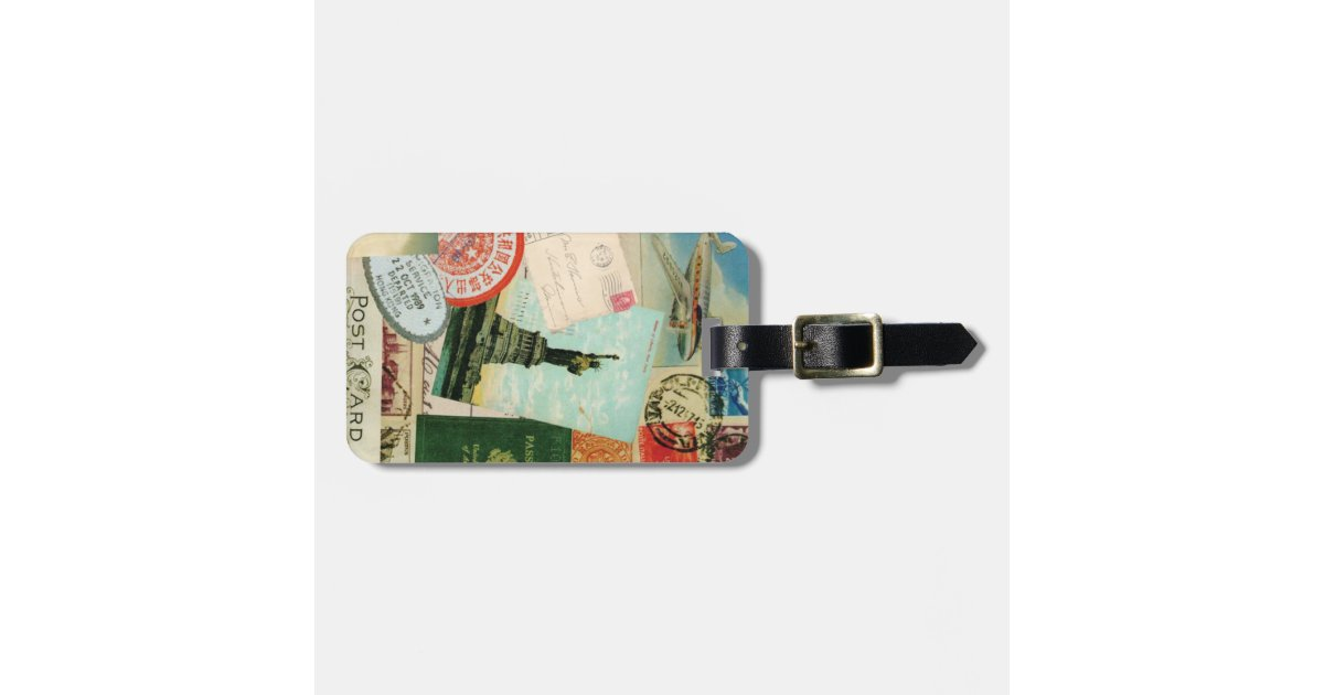 Vintage Travelluggage tag – Bag Tag Template