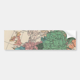 Vintage Travel Map Bumper Sticker