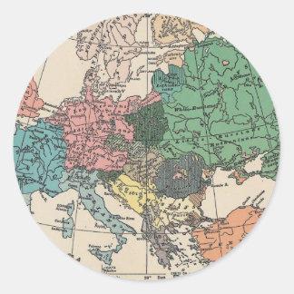 Vintage Travel Map Classic Round Sticker