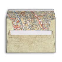 Vintage Travel Map Envelopes