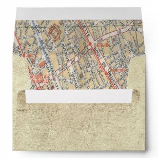 Vintage Travel Map Envelopes