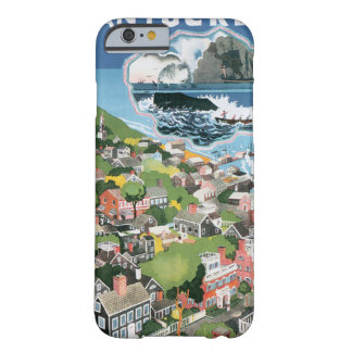 Vintage Travel Map of Nantucket Island iPhone 6 Case