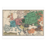Vintage Travel Map Postcard
