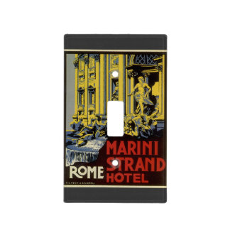 Vintage Travel, Marini Strand Hotel, Rome, Italy Light Switch Cover
