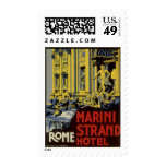 Vintage Travel, Marini Strand Hotel, Rome, Italy Stamps