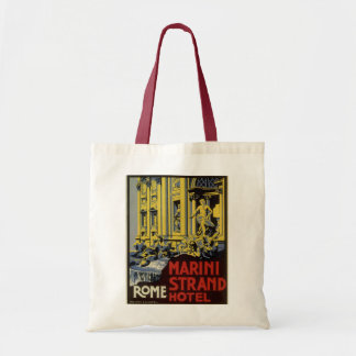 Vintage Travel, Marini Strand Hotel, Rome, Italy Tote Bag