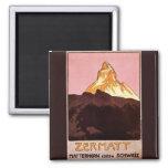 Vintage Travel, Matterhorn Mountain, Switzerland Fridge Magnet