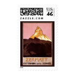 Vintage Travel, Matterhorn Mountain, Switzerland Postage Stamp