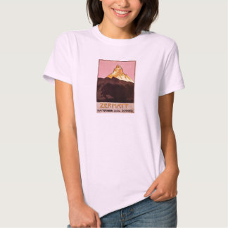 Vintage Travel, Matterhorn Mountain, Switzerland T-shirt