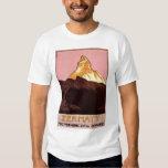 Vintage Travel, Matterhorn Mountain, Switzerland Tshirts