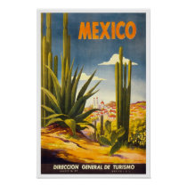 Vintage travel,Mexico Poster