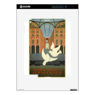 Vintage Travel Milan Orient Express iPad 2 Decal