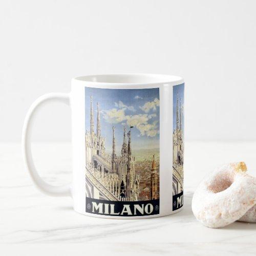 Vintage Travel Milano Italy Gothic Cathedral Duomo