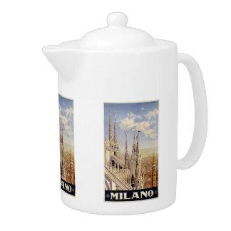 Vintage Travel Milano Milan Italy teapot