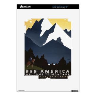 Vintage Travel Montana America USA Skins For iPad 2
