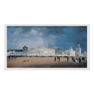 Vintage Travel Moscow Kremlin Russia Poster